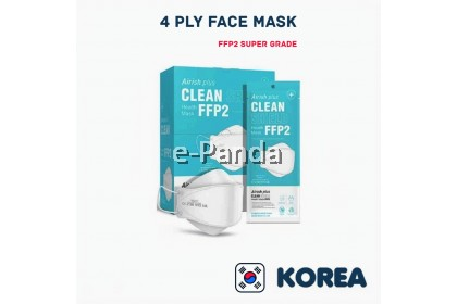 Airish plus Clean shield FFP2 CE Certified By EU Standard Face Mask 4 ply Ready Stock Local Ready Stock 1pc